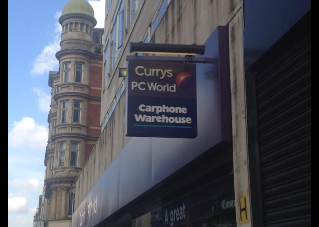Carphone Warehouse now features on the Currys and PC World store signage